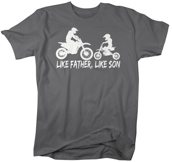 Men's Motocross Dad T Shirt Like Father Like Son Dirt Bike Shirt Dirtbike Shirt Moto Dad Motocross Shirt-Shirts By Sarah