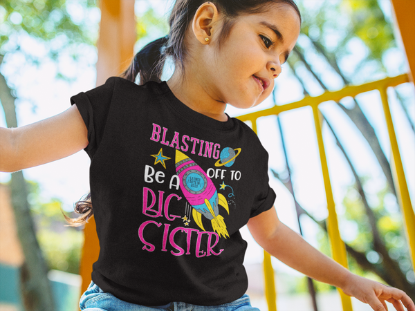 Girl's Big Sister 2020 Shirt Rocket Space Launch 2020 T Shirt Adorable Space Promoted Tee-Shirts By Sarah