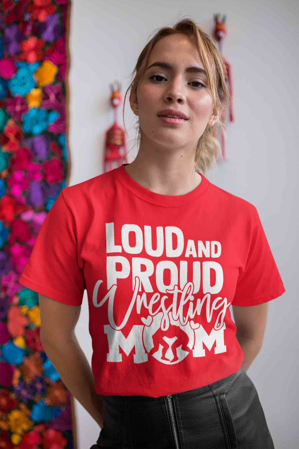 Men's Wresting Shirt Wrestling Mom Shirt Loud Proud Mom Shirt Wrestling Shirt Woman Mom Wrestler Shirt-Shirts By Sarah