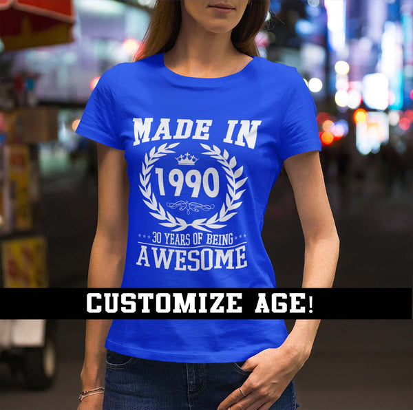 Women's Personalized Original Vintage Birthday T Shirt Custom Birthday Shirt 40th Birthday 50th Birthday 30th Birthday 60th Birthday Shirt-Shirts By Sarah