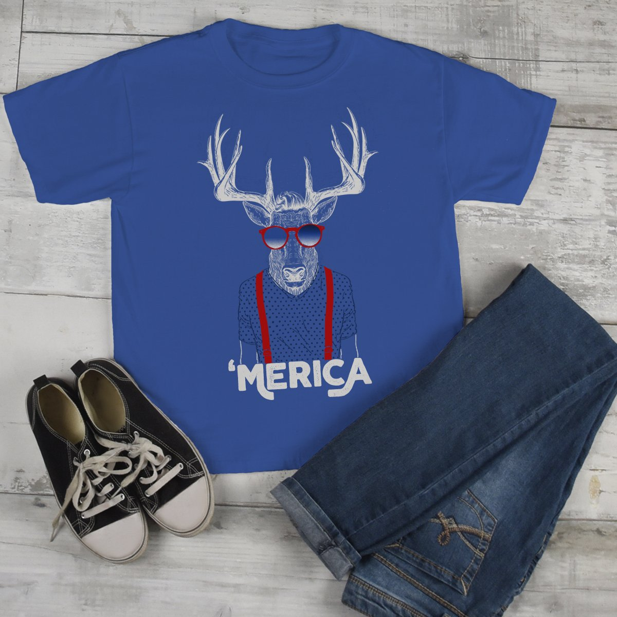 a06b1ad7 Kids Hipster Shirt Merica T Shirt Patriotic 4th July Deer Graphic Tee Baby  Hipster Clothes