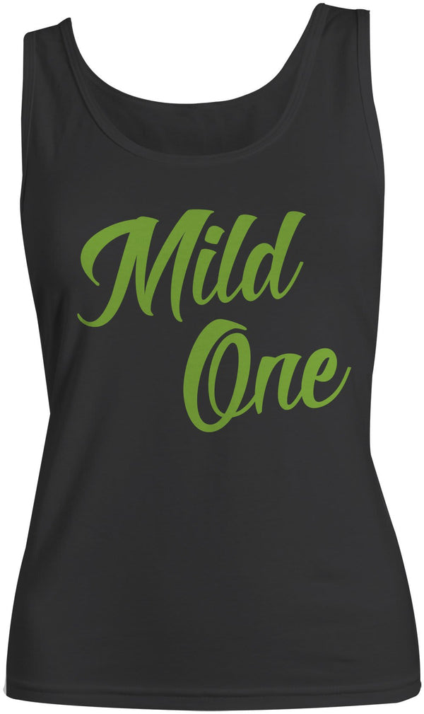 Shirts By Sarah Women's Mild One Wild One Best Friend Cotton Tank Top (Mild One)-Shirts By Sarah