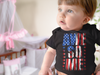 Baby Flag Bodysuit Awesome Creeper USA Patriotic Snap Suit Flag Snapsuit Stars Stripes Boys Girls Infant Patriot Gift Idea