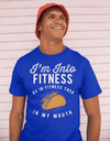 Men's Funny Taco T Shirt Taco Shirts Into Fitness Taco In Mouth Workout Tee Foodie TShirt Tacos Shirts