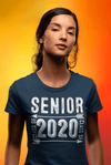 Women's Senior Class 2020 T Shirt Graduate Tee Grunge Distressed TShirt Graduation Gift Idea Shirts
