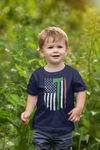 Kids Irish Firefighter Shirt Flag T Shirt Fireman Gift Idea Firefighter Gift Axe Patriotic Tee Boy's Girl's Youth Soft Tee