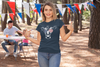 Women's Patriotic Shirt Cow Shirt Heifer TShirt Merica Glasses Flag 4th July Shirt Funny Patriot Farmer Farm Ladies V-Neck