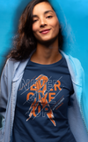 Women's Multiple Sclerosis T-shirt Never Give Up Multiple Sclerosis Shirts Orange Ribbon TShirt MS Shirts Typography-Shirts By Sarah
