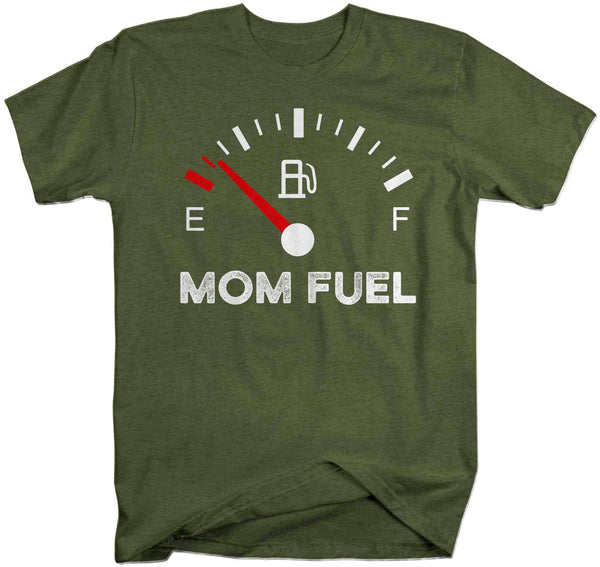 Men's Funny Mom Shirt Mom Fuel Gauge Tee Empty No Energy Shirt Mother's Day Gift Idea Shirt For Mama Unisex Soft Tee-Shirts By Sarah