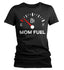 Women's Funny Mom Shirt Mom Fuel Gauge Tee Empty No Energy Shirt Mother's Day Gift Idea Shirt For Mama Ladies V-Neck Soft Tee-Shirts By Sarah