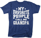 Men's Grandpa T Shirt My Favorite People Call Me Grandpa TShirt Father's Day Gift Idea Tee Athletic Shirts-Shirts By Sarah
