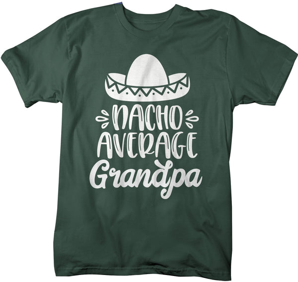 Men's Funny Grandpa T Shirt Nacho Average Grandpa Saying Tee Sombrero Grandpas Gift Idea Papa TShirt-Shirts By Sarah