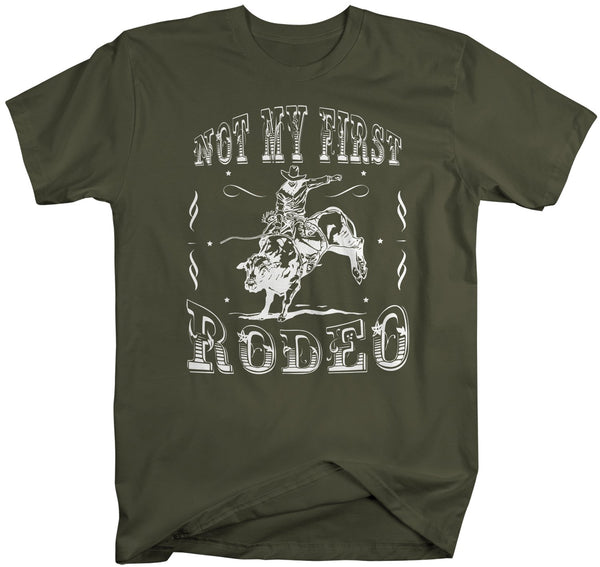 Men's Vintage Rodeo T Shirt Not My First Rodeo Shirts Wild West Bull Riding Graphic Tee Western TShirt Vintage Shirt-Shirts By Sarah