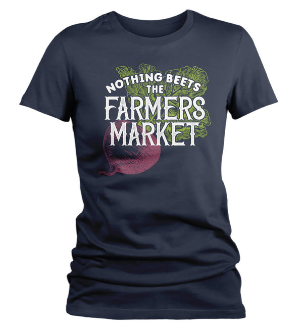 Women's Funny Farmers Market T Shirt Nothing Beets The Farmers Market Shirts Beet Vintage Farmers Market Shirt-Shirts By Sarah