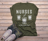 Men's Funny Nurse T-Shirt Need Shots Drinking Party Nurses Shirt-Shirts By Sarah
