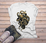 Men's Octopus T Shirt Hand Drawn Hipster Shirts Octotiger Tiger Graphic Tee Cool Drawing-Shirts By Sarah