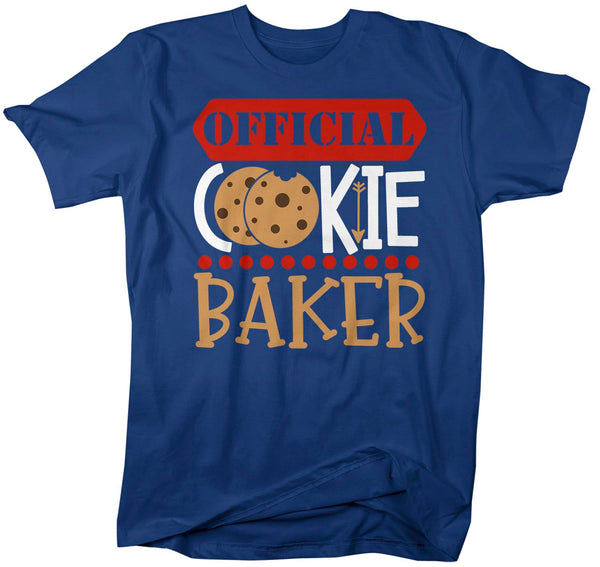 Men's Christmas T Shirt Christmas Official Cookie Baker Matching Xmas Shirts Cute Graphic Tee Baking Shirt Man Unisex-Shirts By Sarah