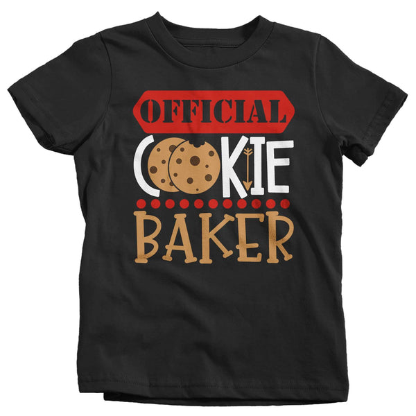 Kids Christmas T Shirt Christmas Official Cookie Baker Matching Xmas Shirts Cute Graphic Tee Baking Shirt Boy's Girls Youth-Shirts By Sarah
