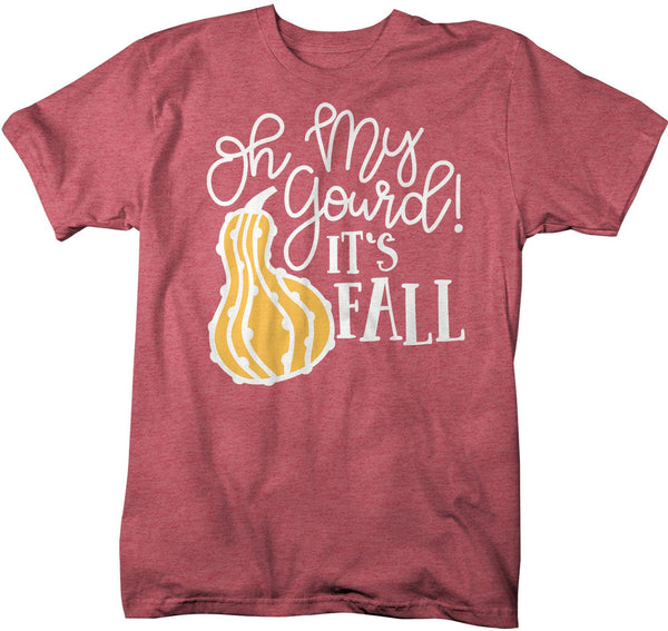 Men's Gourd T Shirt Fall Shirts Oh My Gourd Shirt Squash Shirts Fall TShirt Happy Fall Shirt Cute Fall Tee-Shirts By Sarah