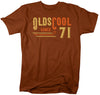 Men's  Vintage T Shirt 1971 Birthday Shirt Olds Cool 50th Birthday Tee Retro Gift Idea Vintage Tee Oldscool Shirts Men's Unisex Soft Tee