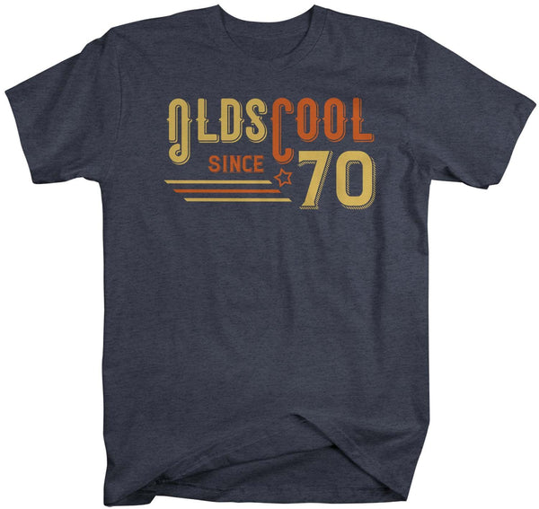 Men's Vintage T Shirt 1970 Birthday Shirt Olds Cool 50th Birthday Tee Retro Gift Idea Vintage Tee Oldscool Shirts-Shirts By Sarah