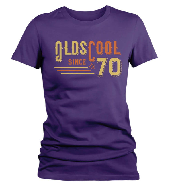 Women's Vintage T Shirt 1970 Birthday Shirt Olds Cool 50th Birthday Tee Retro Gift Idea Vintage Tee Oldscool Shirts-Shirts By Sarah