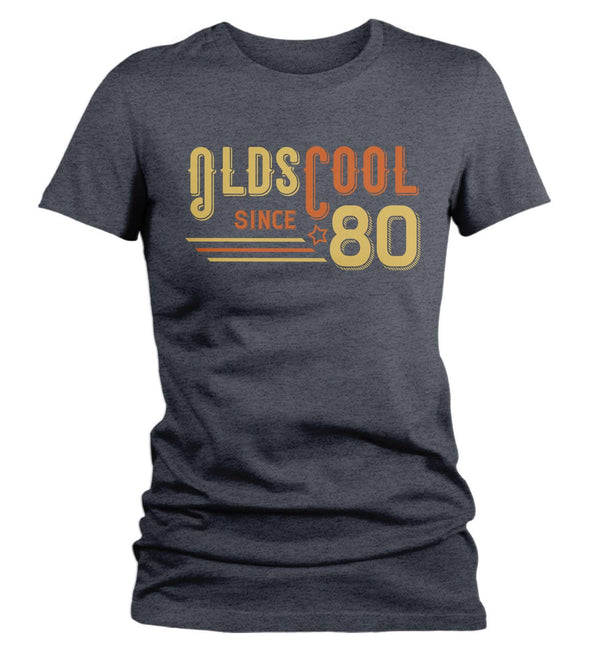Women's Vintage T Shirt 1980 Birthday Shirt Olds Cool 40th Birthday Tee Retro Gift Idea Vintage Tee Oldscool Shirts-Shirts By Sarah