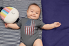 Baby Flag Snap Suit Fingerprint Creeper USA Patriotic Snapsuit In My DNA Fingerprint Flag Infant Patriot Gift Idea