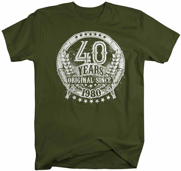 Men's Funny 40th Birthday T Shirt 40 Original Since 1980 Shirts Fortieth Birthday Shirts Shirt For 40th Birthday-Shirts By Sarah