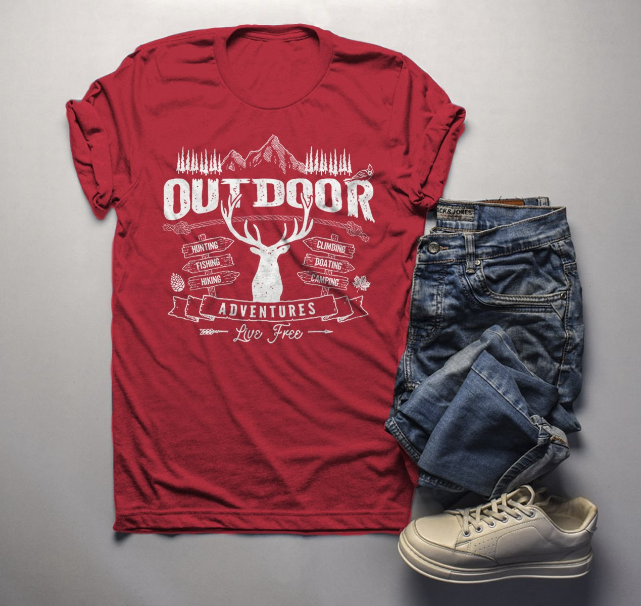 Mens Enjoy Your National Forest Funny Outdoor Vintage Camping Mountains T shirt