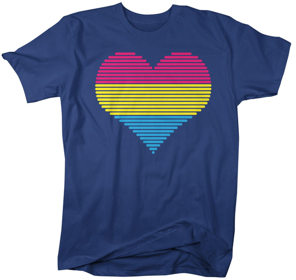 Men's LGBT T Shirt Pansexual Pride Shirts Heart Pansexual T Shirt Heart Shirts Pansexual Pride T Shirts-Shirts By Sarah