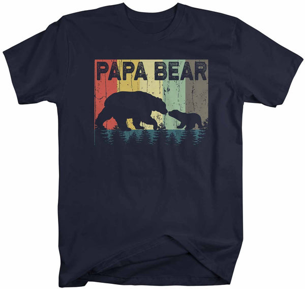 Men's Papa Bear T Shirt Father's Day Gift Grandpa Shirt Vintage Shirt Retro Gift Vintage Papa Shirt Forest-Shirts By Sarah