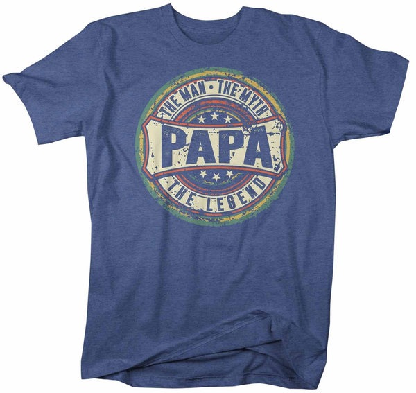 Men's Funny Papa T Shirt Father's Day Gift Man Myth Legend Shirt Vintage Shirt Retro Gift Vintage Papa Shirt-Shirts By Sarah