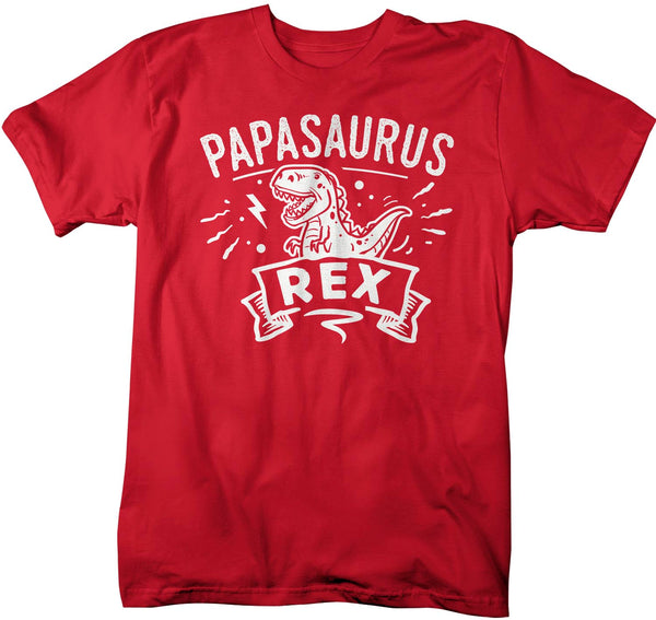 Men's Funny Papa T Shirt Father's Day Gift Papasaurus Rex Shirt Dinosaur Shirt T Rex Shirt Matching Shirts Family Gift Idea-Shirts By Sarah