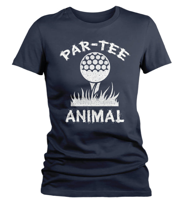 Women's Funny Golf T Shirt Par Tee Animal Shirt Golfer Shirts Hilarious Gift Idea Play On Words Graphic Tee-Shirts By Sarah