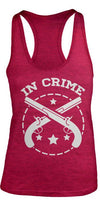 Shirts By Sarah Women's Partners In Crime Gun Burnout Best Friend Tank Tops (In Crime)