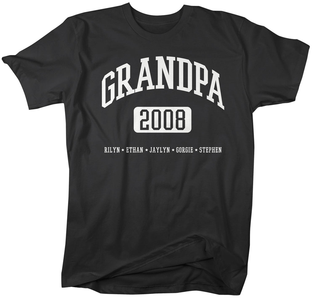 3a7cbdee Personalized Grandpa Shirt Grandpa T-Shirt Kids Names Est T Shirts Papa  Names Athletic Shirt