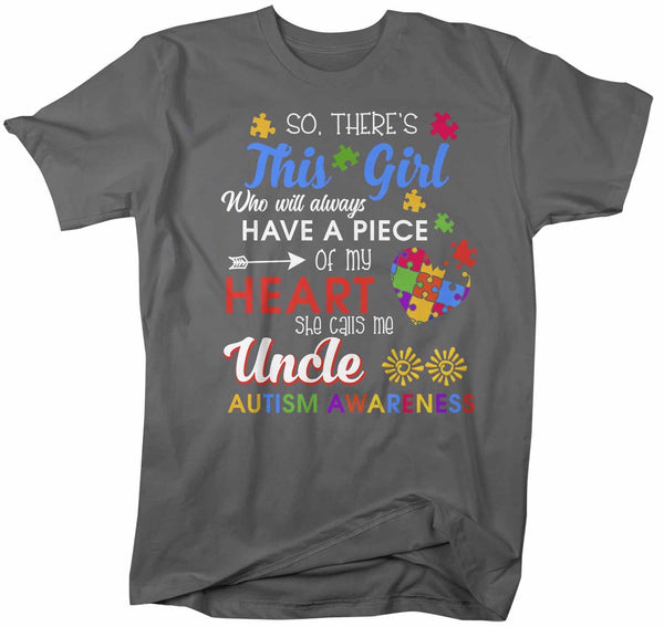 Men's Personalized Autism T Shirt This Girl Calls Me Shirts Custom Shirts Piece Of Heart Autism Shirt Custom Autism Shirt-Shirts By Sarah