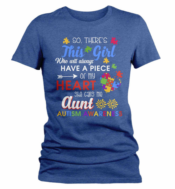 Women's Personalized Autism T Shirt This Girl Calls Me Shirts Custom Shirts Piece Of Heart Autism Shirt Custom Autism Shirt-Shirts By Sarah