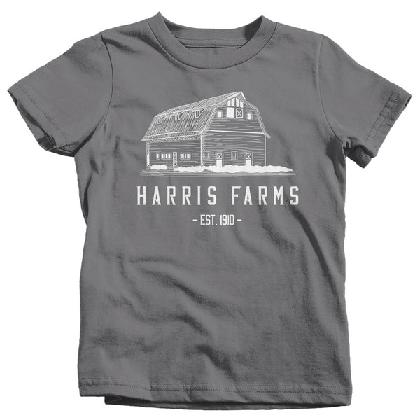 Kids Personalized Farm T Shirt Minimalist Shirt Barn Shirt Custom Farm Shirt Farmer Shirt Farmer Gift Idea Tshirt-Shirts By Sarah