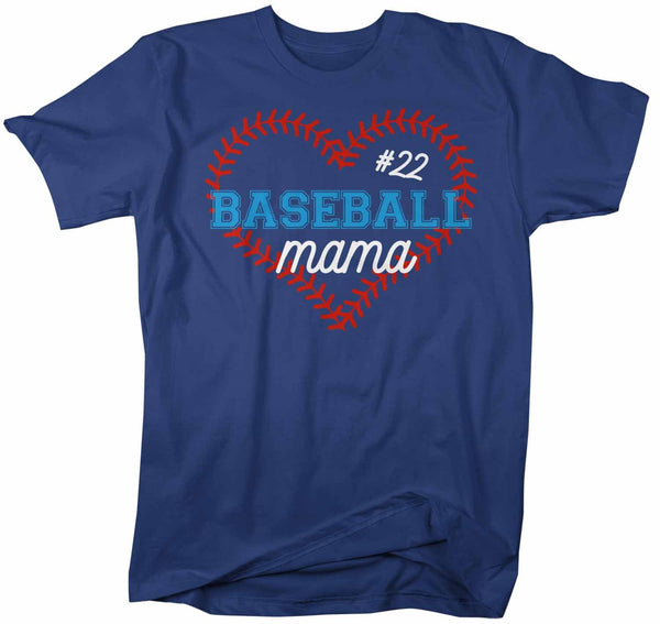 Men's Personalized Baseball T Shirt Personalized Baseball Shirt Custom Baseball Heart Shirt Baseball Grandma Mom Shirt-Shirts By Sarah