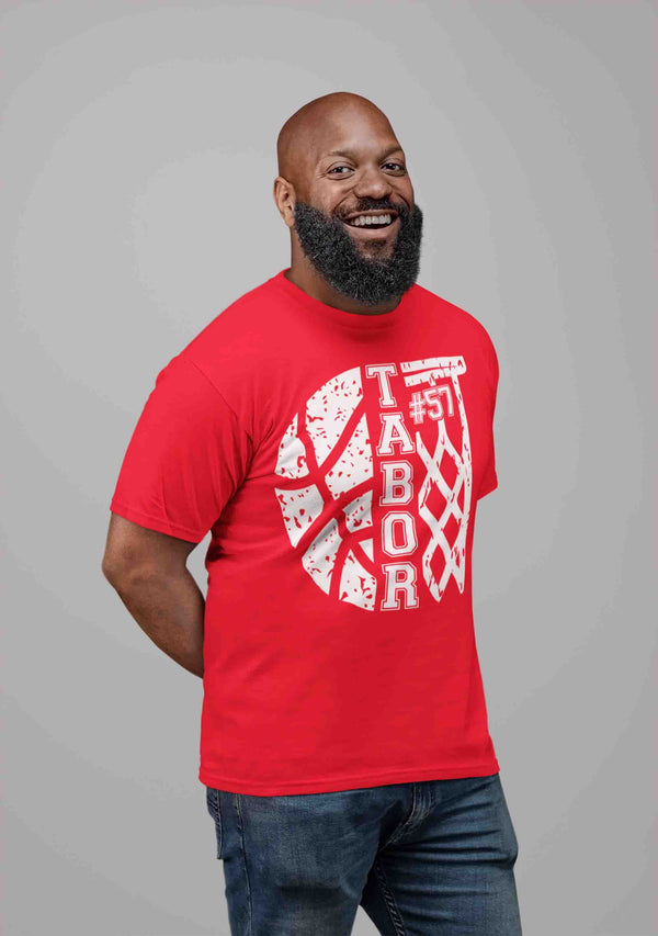Men's Personalized Basketball T Shirt Custom Basketball Shirts Basketball Dad T Shirt Personalized Shirts-Shirts By Sarah
