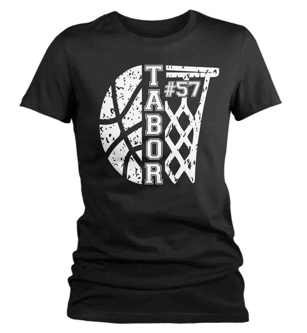 Women's Personalized Basketball T Shirt Custom Basketball Shirts Basketball Mom T Shirt Personalized Shirts-Shirts By Sarah