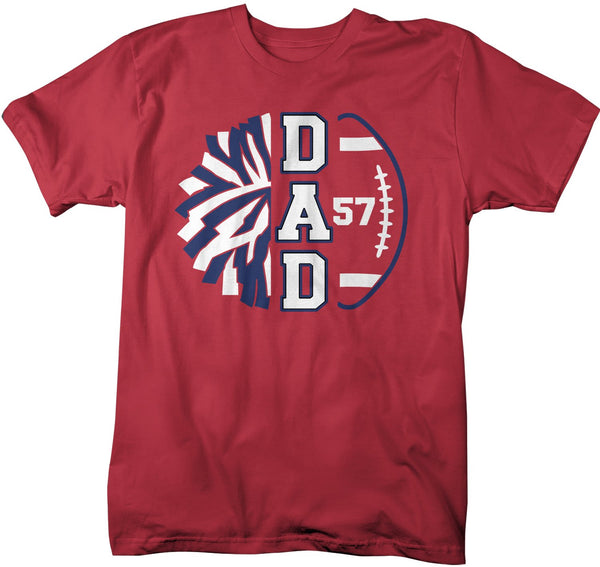 Men's Personalized Cheer Dad T Shirt Custom Football Shirts Cheer T Shirt Personalized Team Football Shirts-Shirts By Sarah