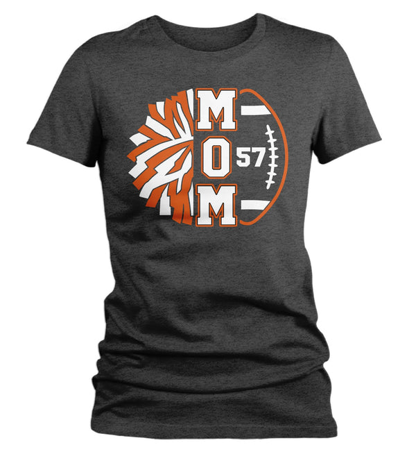 Women's Personalized Cheer Mom T Shirt Custom Football Shirts Cheer T Shirt Personalized Team Football Shirts-Shirts By Sarah