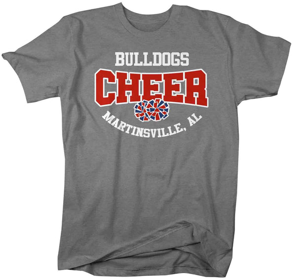 Men's Personalized Cheer T Shirt Pom Pom Mascot Cheerleader Shirts Cheer Dad T Shirt Pom Shirts-Shirts By Sarah