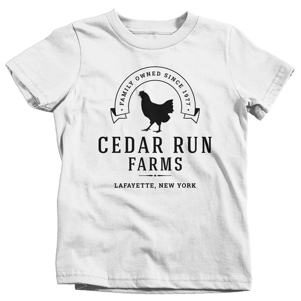Kids Personalized Chicken Farm T Shirt Hen Farm Shirt Farmer Gift Idea Custom Fowl Bird Shirt Rancher Shirts Boy's Girl's-Shirts By Sarah