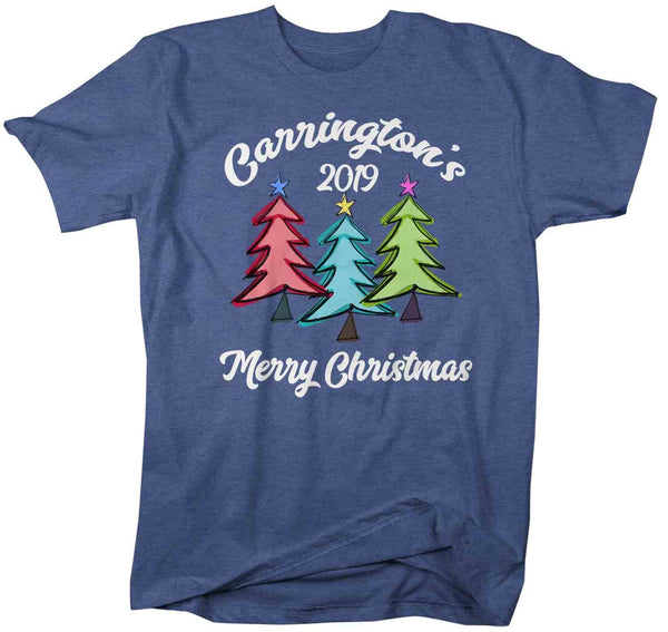 Men's Personalized Christmas Shirt Custom Family Christmas Tree Shirt Cute Matching Christmas Shirts Trees Christmas Pajama Shirt-Shirts By Sarah