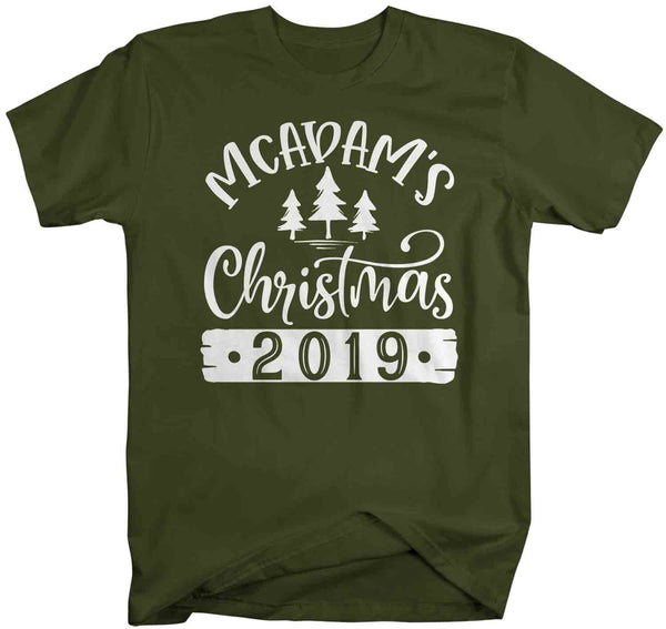 Men's Personalized Christmas Shirt Custom Christmas Tree Shirt Cute Matching Christmas Shirts Pine Trees Christmas Pajama Shirt-Shirts By Sarah