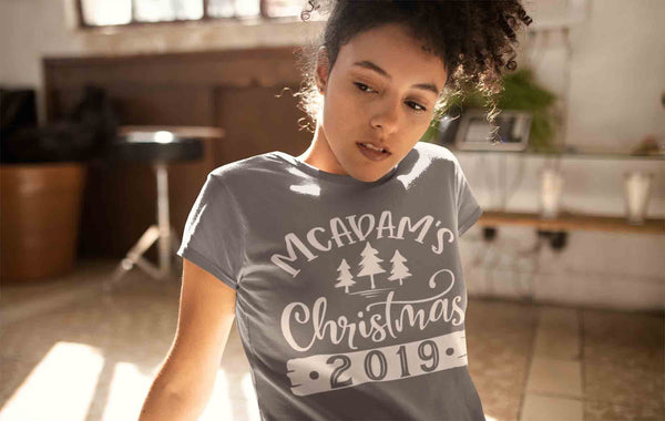 Women's Personalized Christmas Shirt Custom Christmas Tree Shirt Cute Matching Christmas Shirts Pine Trees Christmas Pajama Shirt-Shirts By Sarah